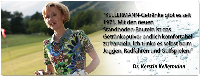 Die Inhaberin von isodrinks24.com. Dr. Kellermann's Isodrinks für Outdoor Sports